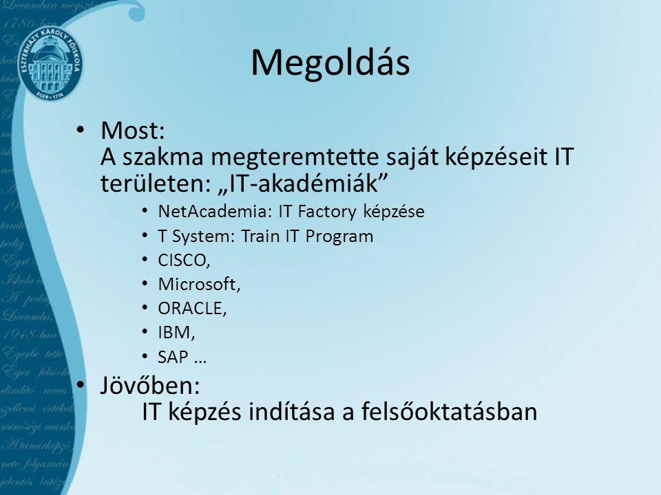 """Megoldás Most: A szakma megteremtette saját képzéseit IT területen: """"IT-akadémiák NetAcademia: IT Factory képzése."""