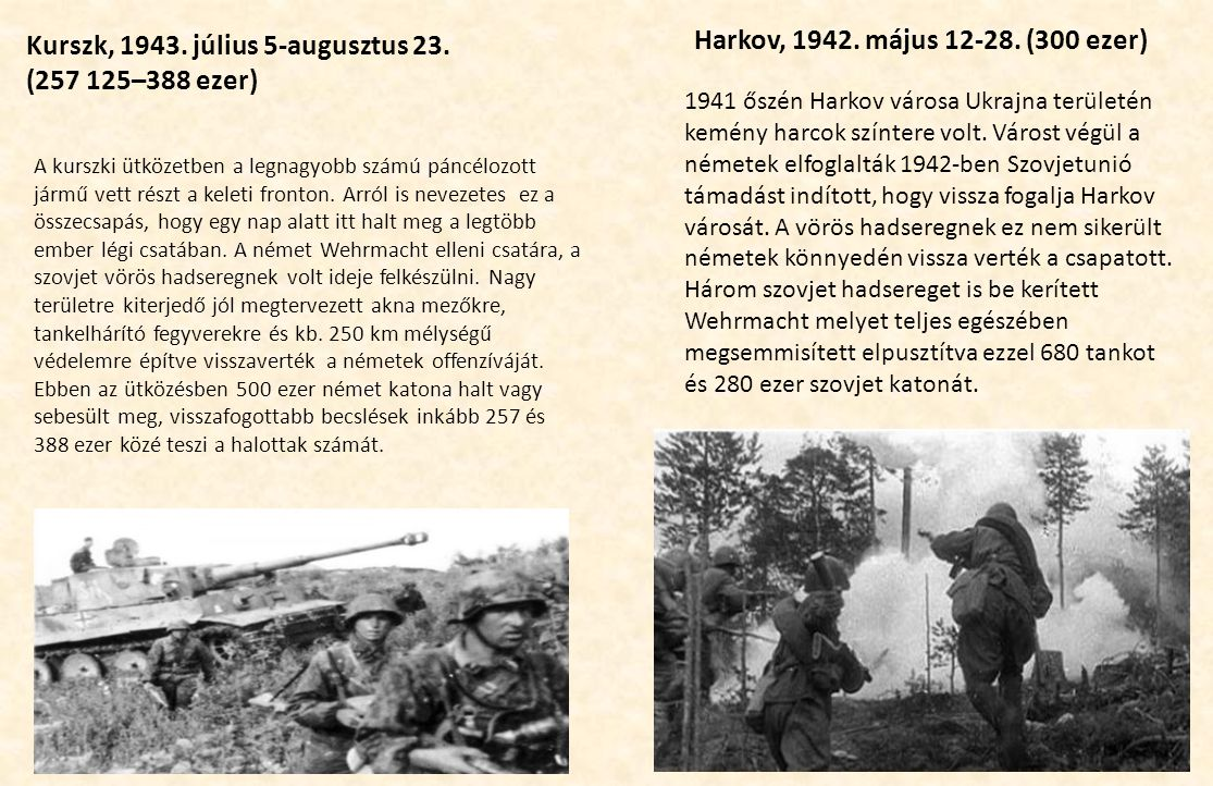 Kurszk, 1943. július 5-augusztus 23. (257 125–388 ezer)