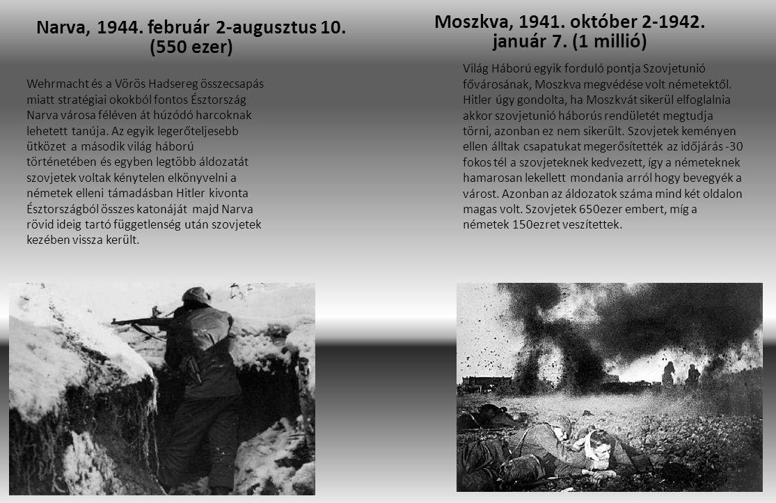 Moszkva, 1941. október 2-1942. január 7. (1 millió)