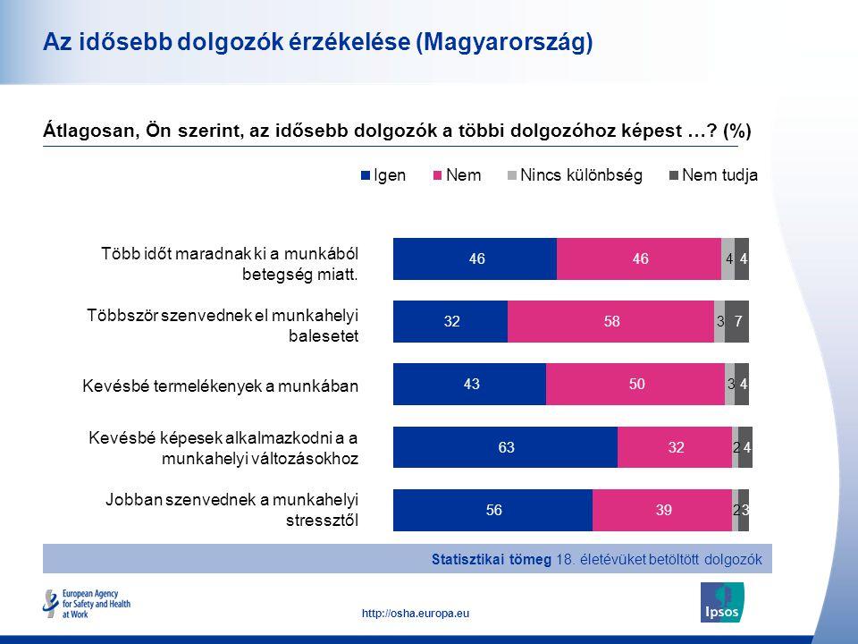 Az idősebb dolgozók érzékelése (Magyarország)