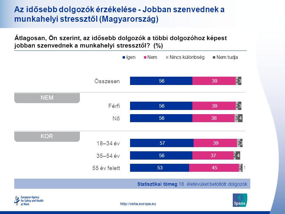 Az idősebb dolgozók érzékelése - Jobban szenvednek a munkahelyi stressztől (Magyarország)