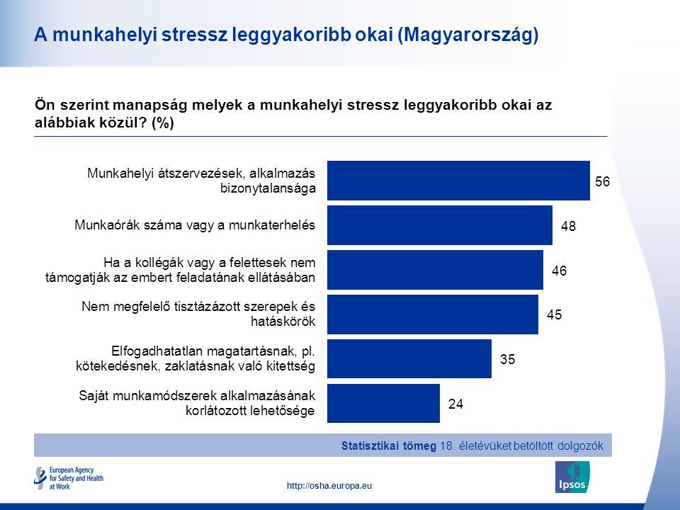 A munkahelyi stressz leggyakoribb okai (Magyarország)