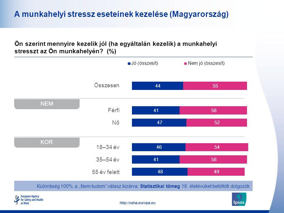 A munkahelyi stressz eseteinek kezelése (Magyarország)