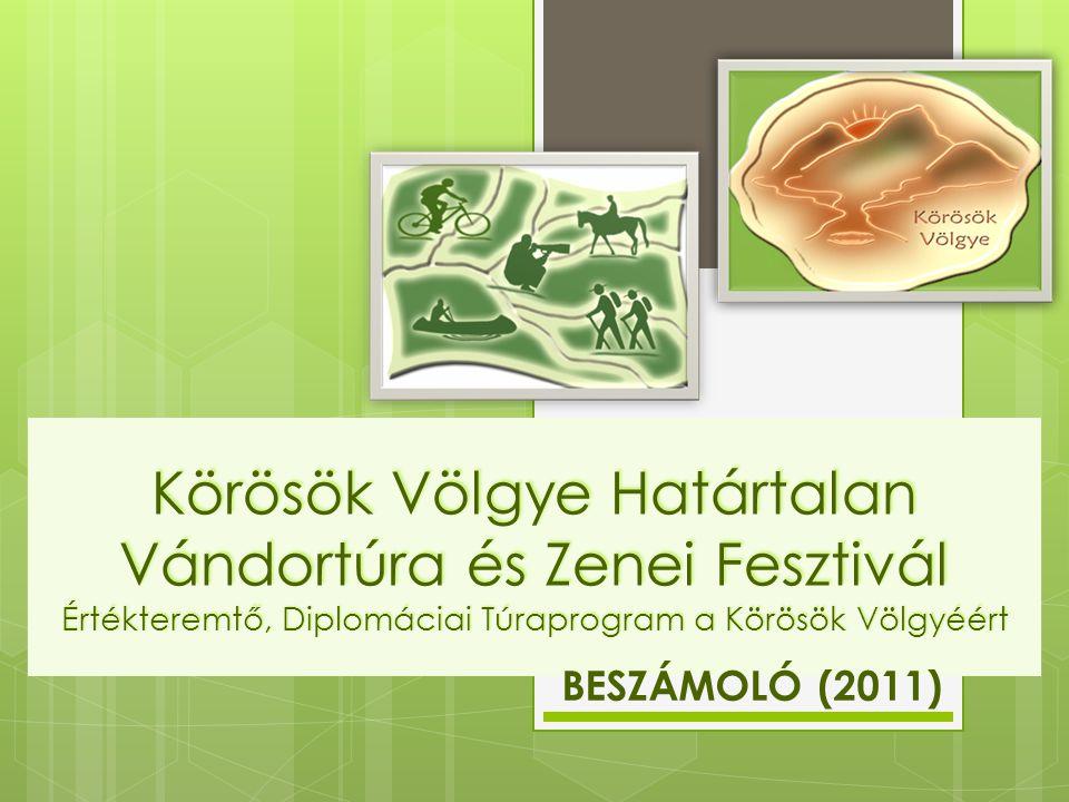 Körösök Völgye Határtalan Vándortúra és Zenei Fesztivál Értékteremtő, Diplomáciai Túraprogram a Körösök Völgyéért