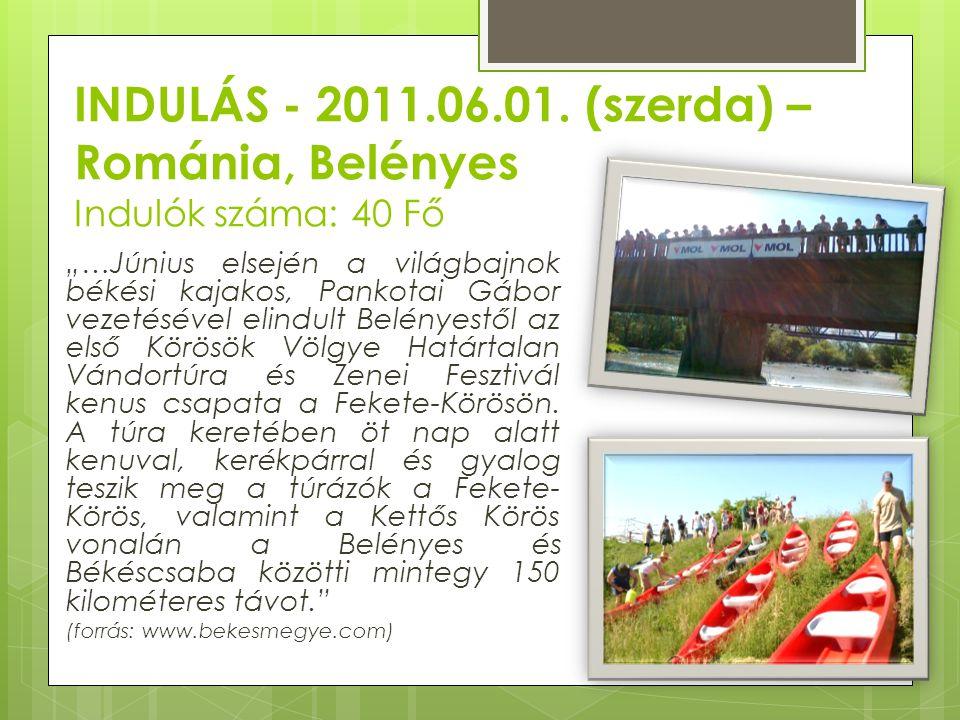INDULÁS - 2011.06.01. (szerda) – Románia, Belényes Indulók száma: 40 Fő