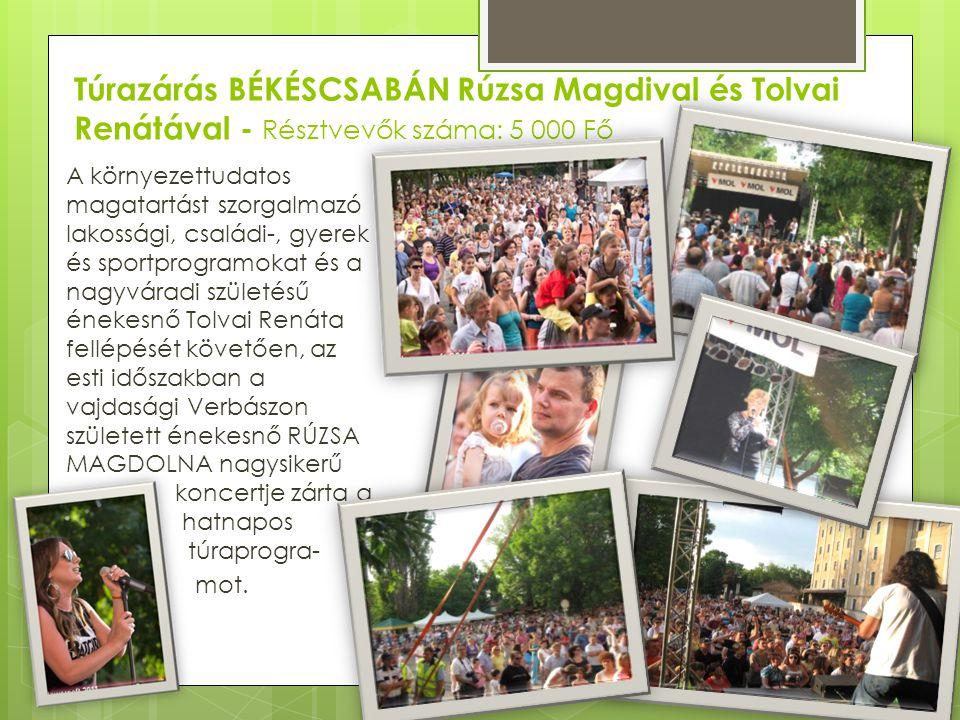 Túrazárás BÉKÉSCSABÁN Rúzsa Magdival és Tolvai Renátával - Résztvevők száma: 5 000 Fő