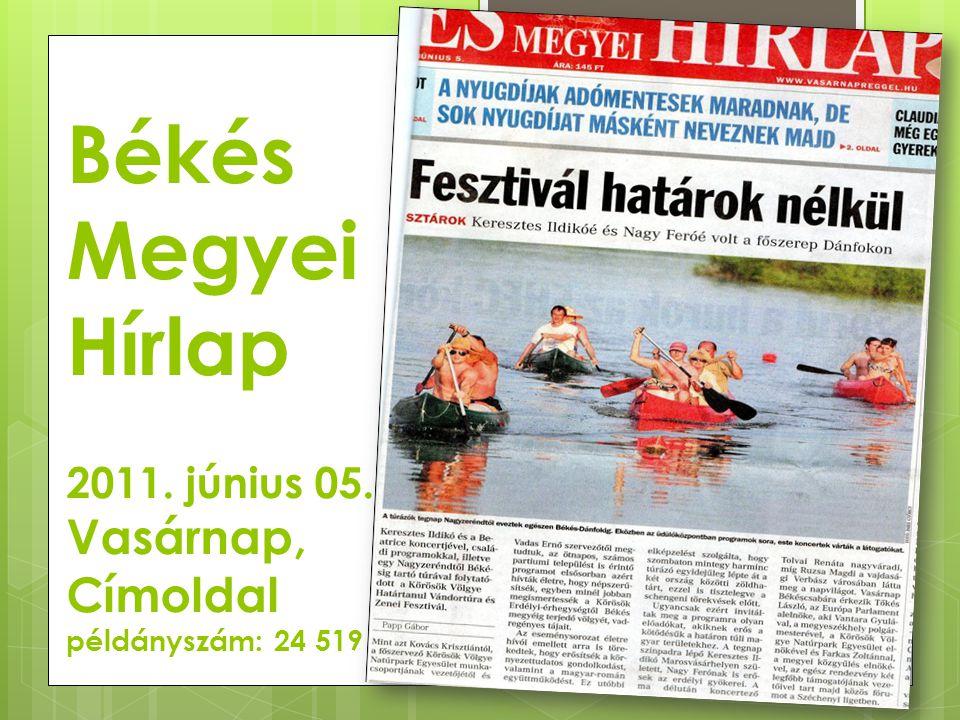 Békés Megyei Hírlap 2011. június 05