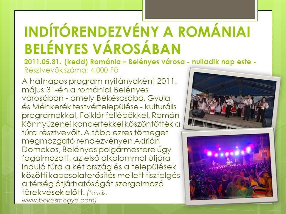 Indítórendezvény a romániai Belényes városában 2011. 05. 31