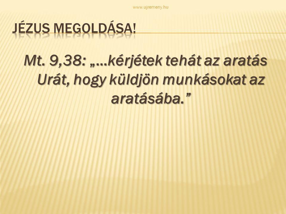 www.ujremeny.hu Jézus megoldása. Mt.