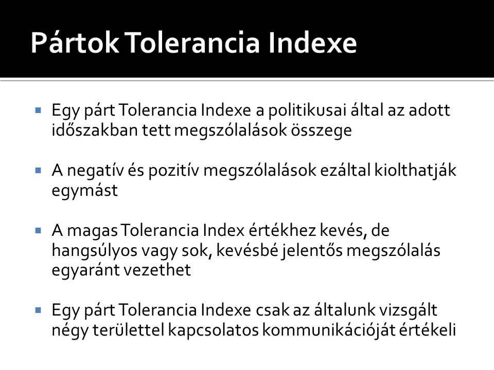 Pártok Tolerancia Indexe