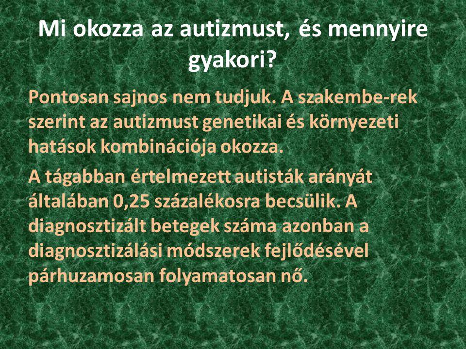 Mi okozza az autizmust, és mennyire gyakori