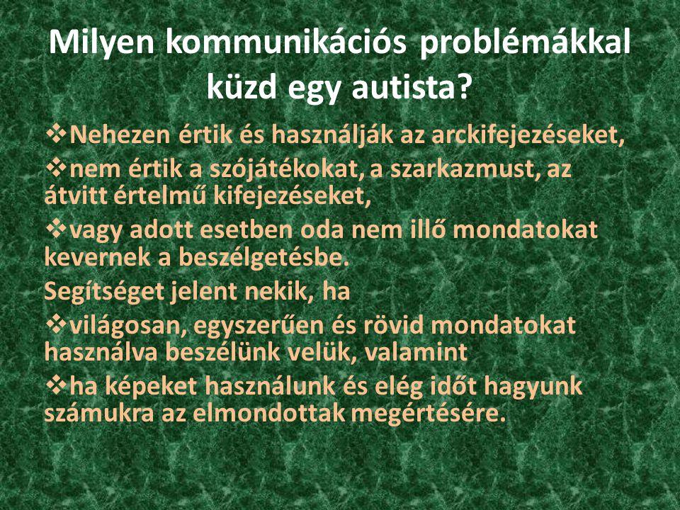Milyen kommunikációs problémákkal küzd egy autista
