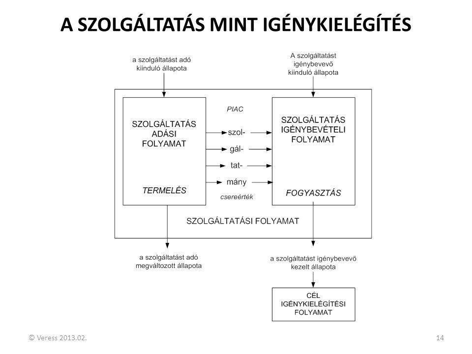 A SZOLGÁLTATÁS MINT IGÉNYKIELÉGÍTÉS