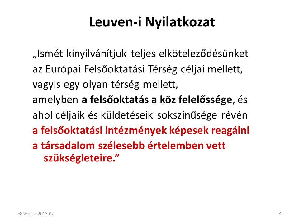"""Leuven-i Nyilatkozat """"Ismét kinyilvánítjuk teljes elköteleződésünket"""