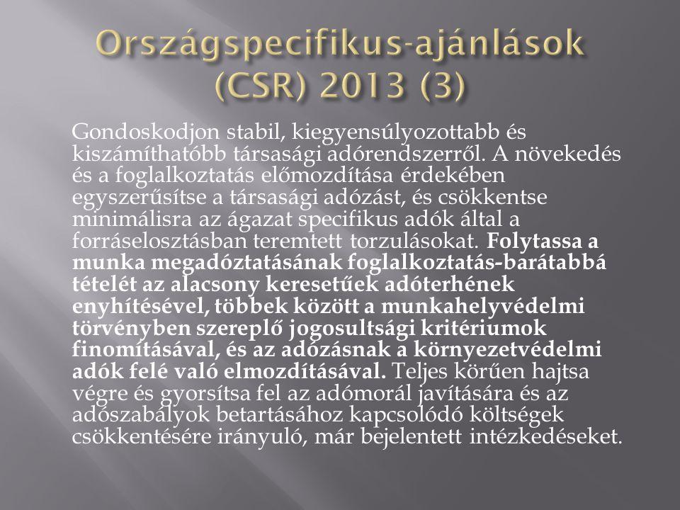 Országspecifikus-ajánlások (CSR) 2013 (3)