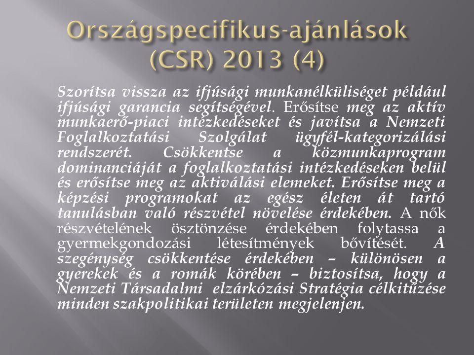 Országspecifikus-ajánlások (CSR) 2013 (4)