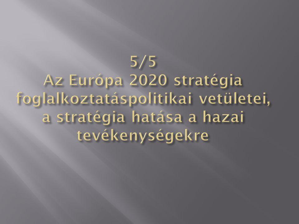 5/5 Az Európa 2020 stratégia foglalkoztatáspolitikai vetületei, a stratégia hatása a hazai tevékenységekre