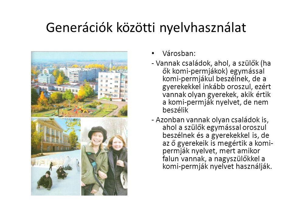 Generációk közötti nyelvhasználat