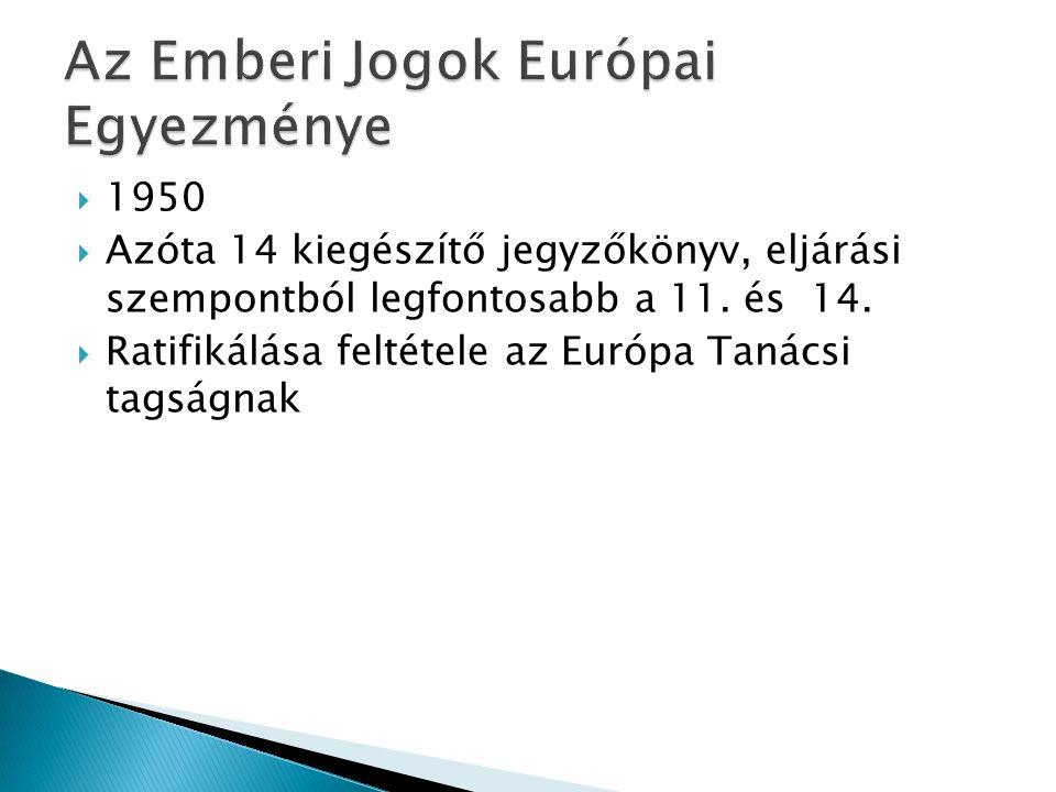 Az Emberi Jogok Európai Egyezménye