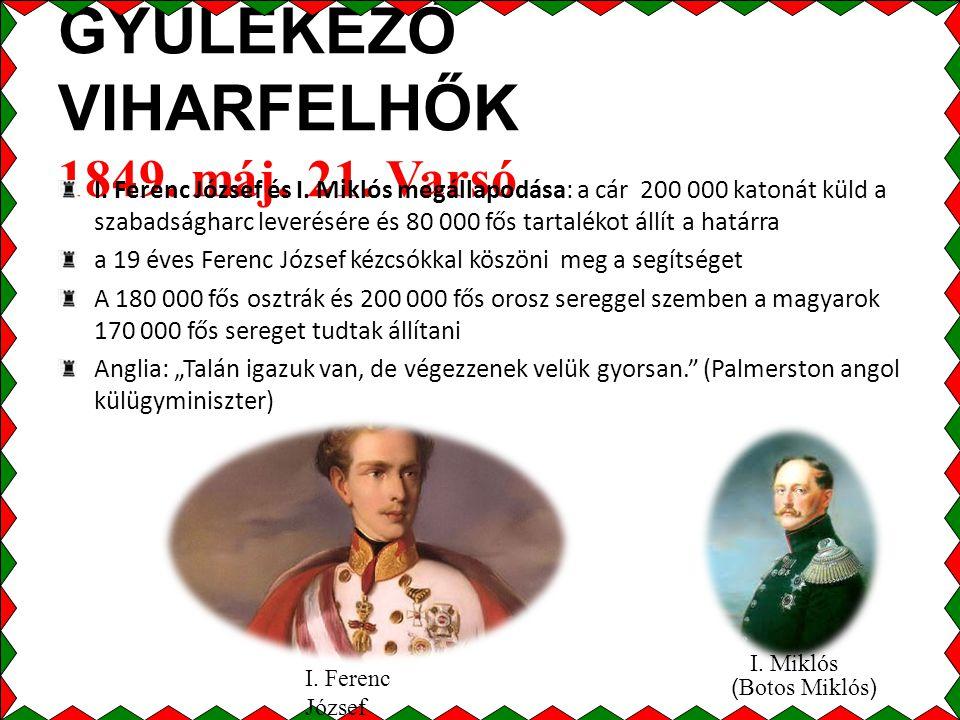 GYÜLEKEZŐ VIHARFELHŐK 1849. máj. 21. Varsó