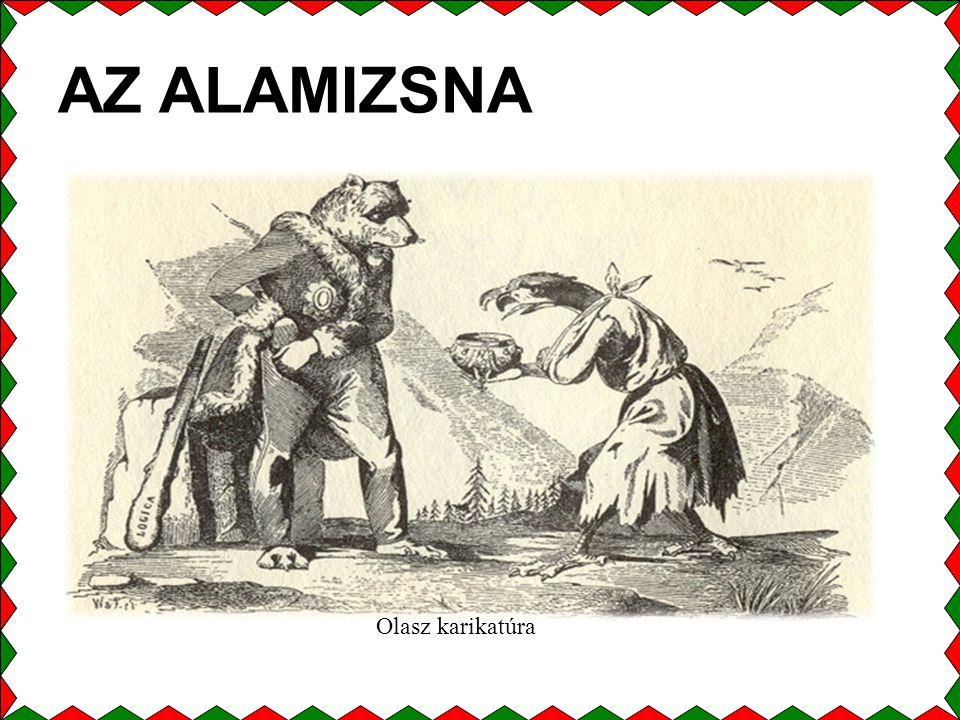 AZ ALAMIZSNA Olasz karikatúra