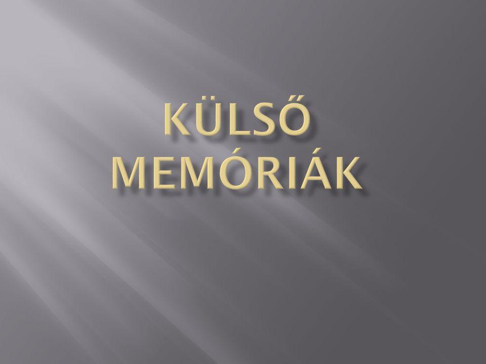 Külső memóriák
