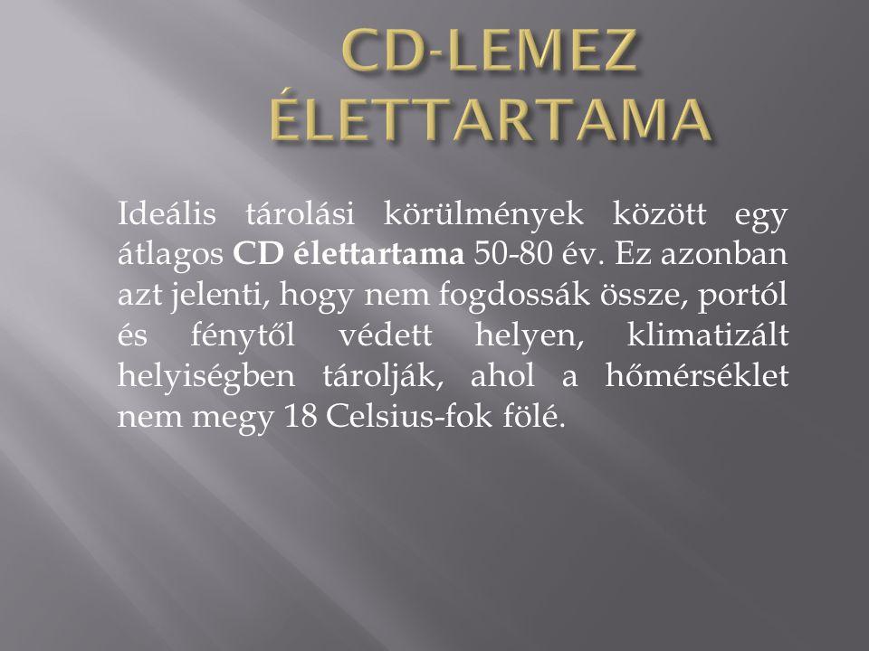 CD-LEMEZ ÉLETTARTAMA