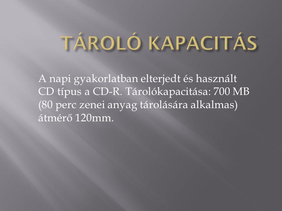 TÁROLÓ KAPACITÁS