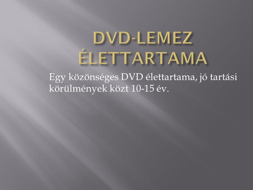 DVD-LEMEZ ÉLETTARTAMA