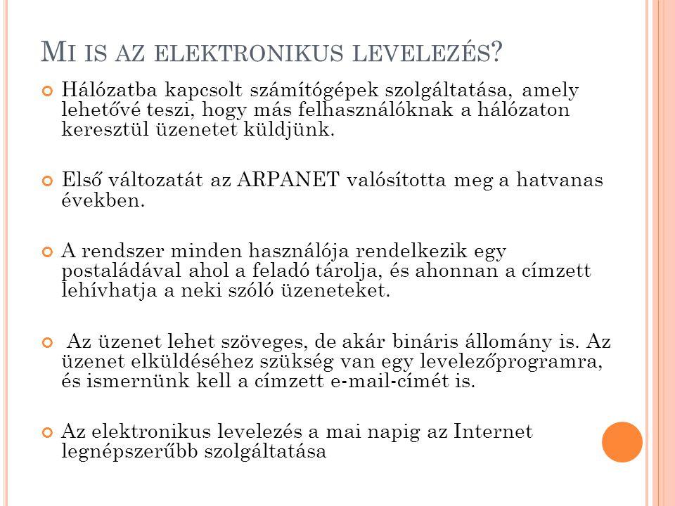 Mi is az elektronikus levelezés