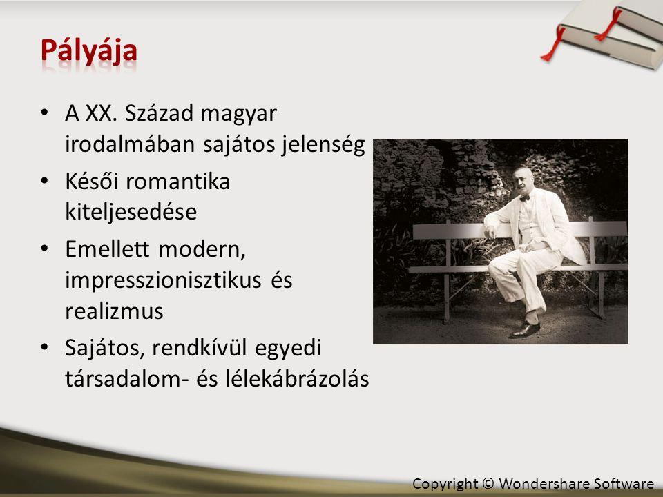 Pályája A XX. Század magyar irodalmában sajátos jelenség