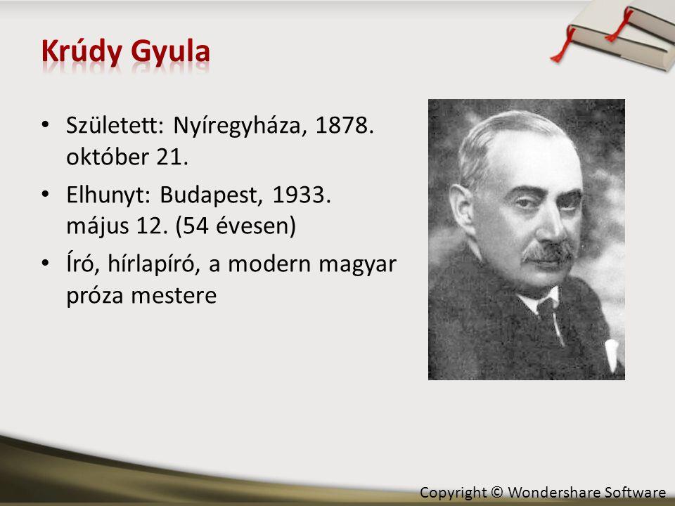Krúdy Gyula Született: Nyíregyháza, 1878. október 21.