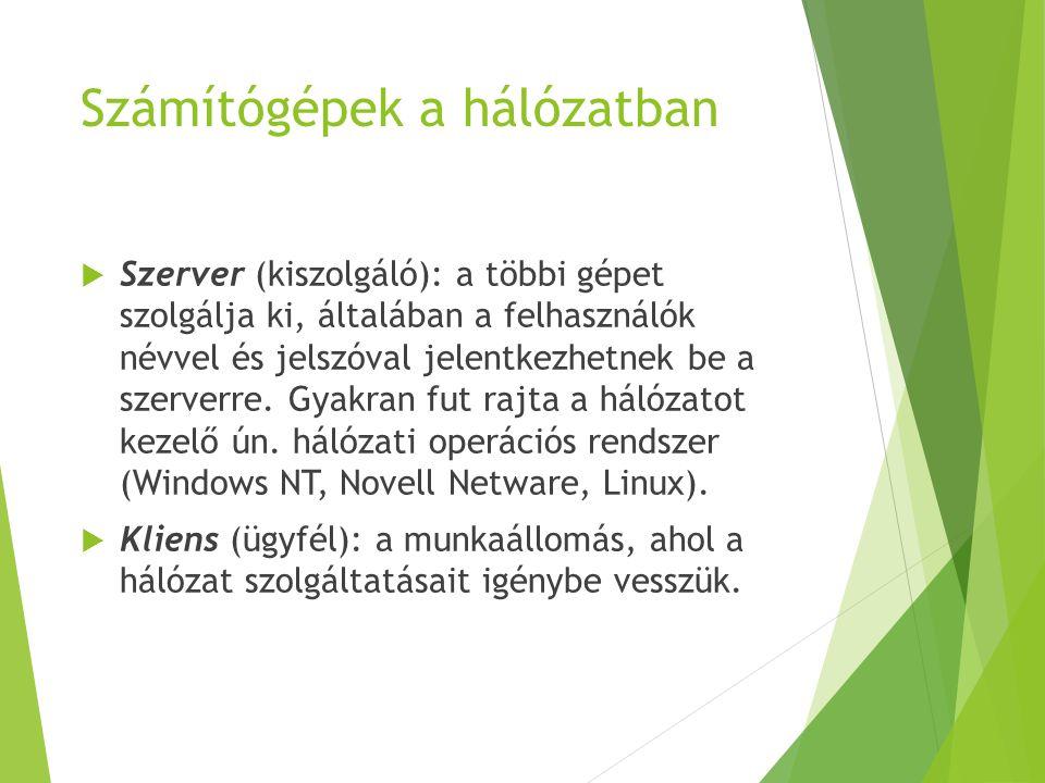Számítógépek a hálózatban