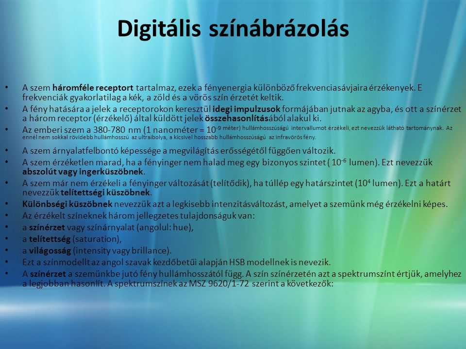 Digitális színábrázolás