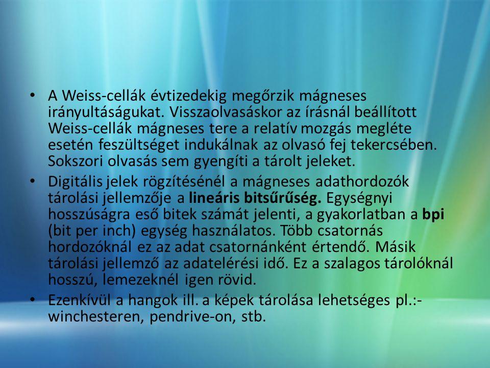 A Weiss-cellák évtizedekig megőrzik mágneses irányultáságukat