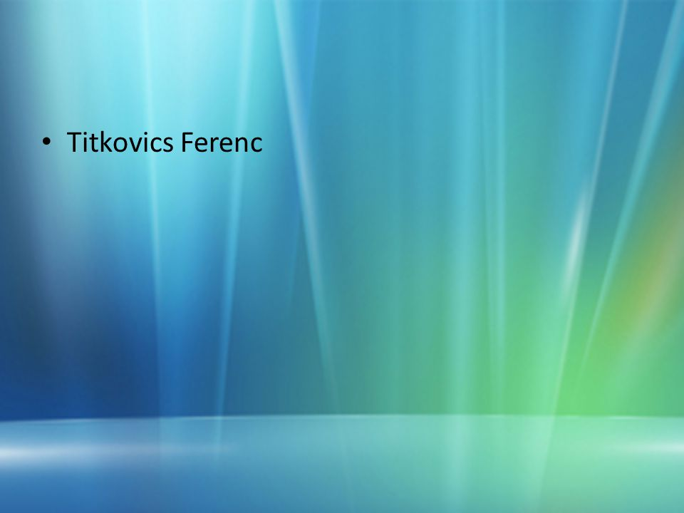 Titkovics Ferenc
