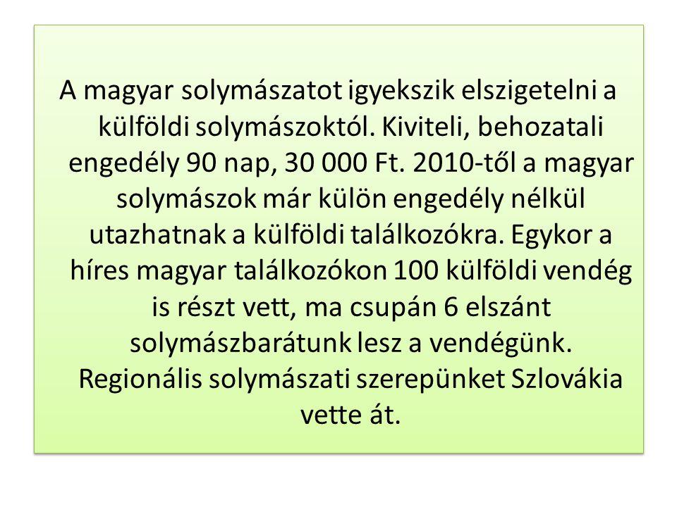 A magyar solymászatot igyekszik elszigetelni a külföldi solymászoktól