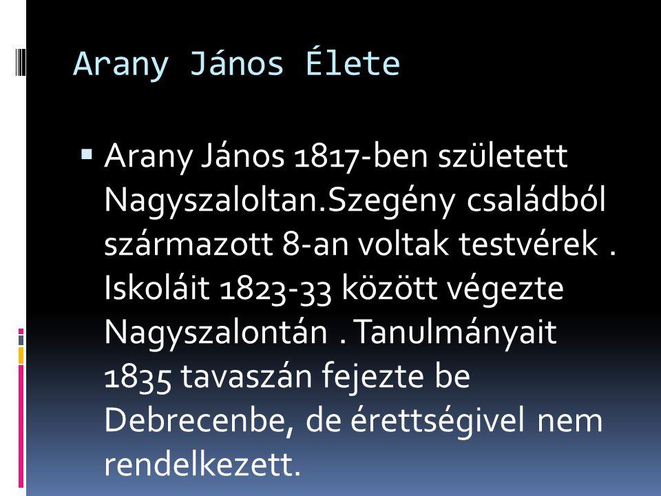 Arany János Élete