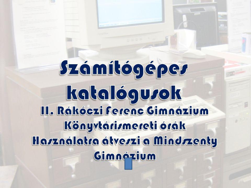 Számítógépes katalógusok