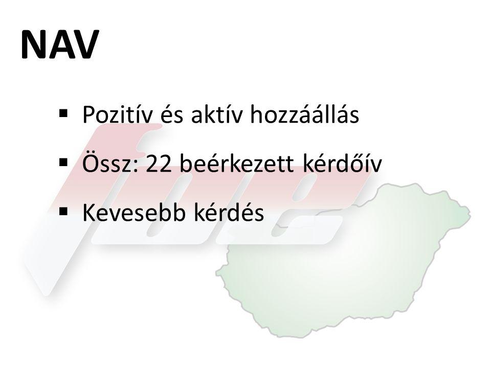 NAV Pozitív és aktív hozzáállás Össz: 22 beérkezett kérdőív