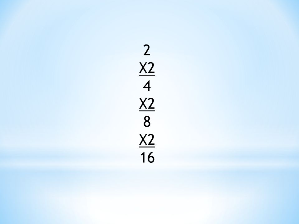 2 X2 4 8 16