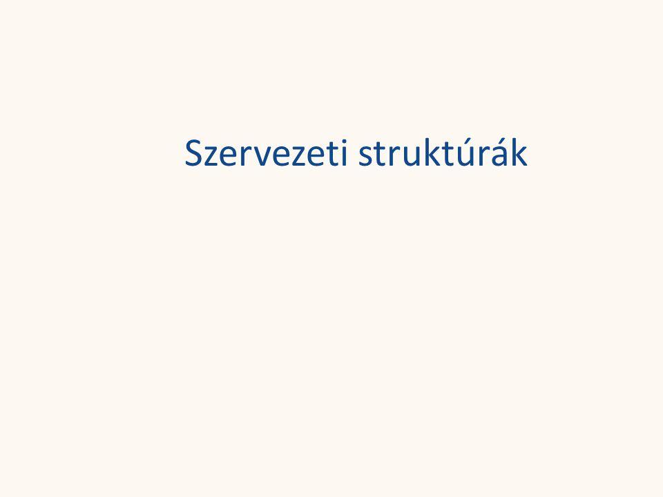 Szervezeti struktúrák