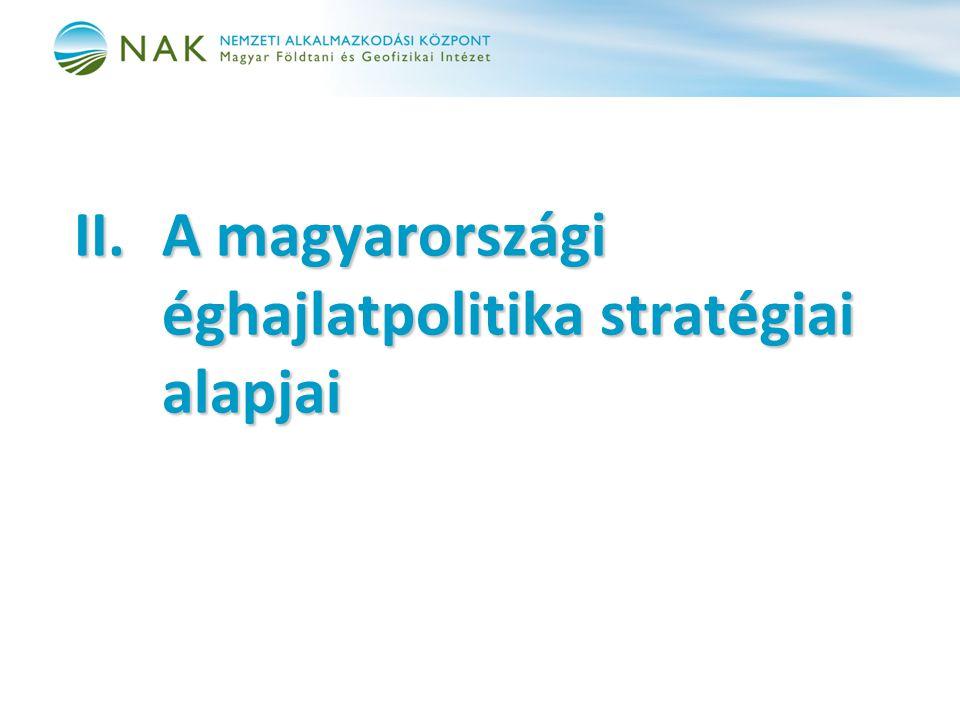 II. A magyarországi éghajlatpolitika stratégiai alapjai