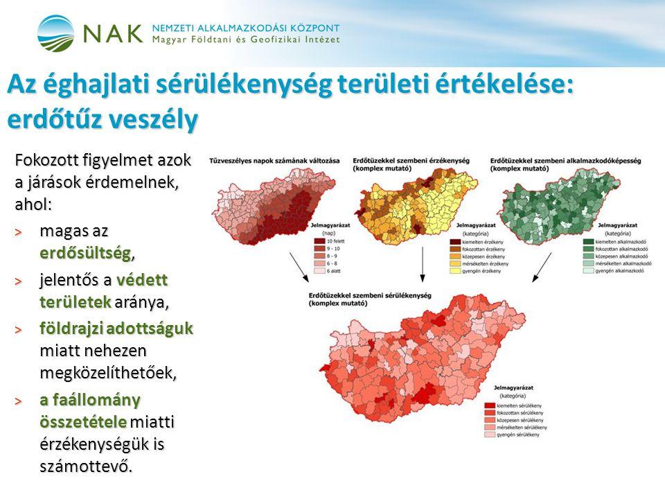 Az éghajlati sérülékenység területi értékelése: erdőtűz veszély