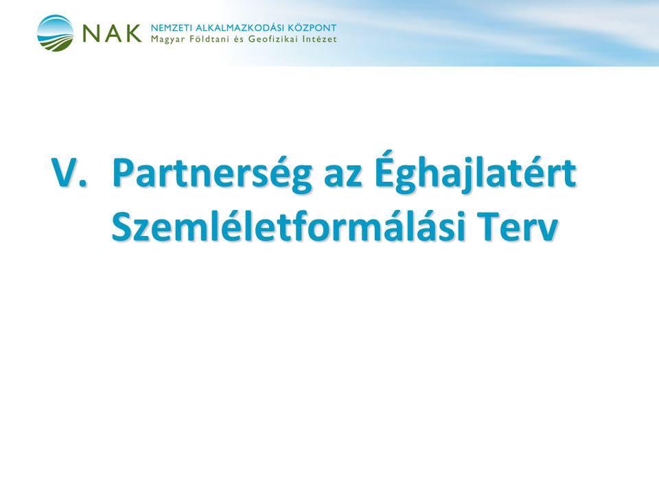 V. Partnerség az Éghajlatért Szemléletformálási Terv