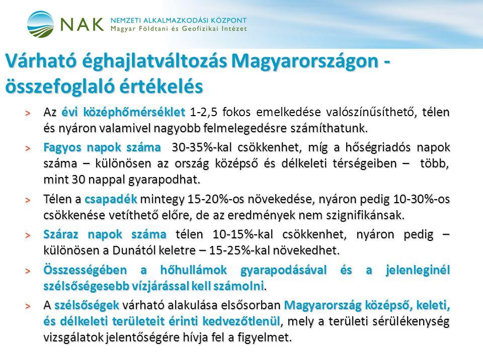 Várható éghajlatváltozás Magyarországon - összefoglaló értékelés