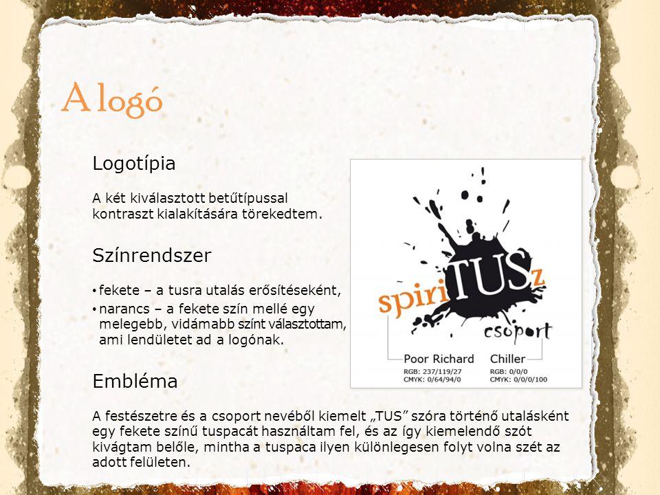 A logó Logotípia Színrendszer Embléma