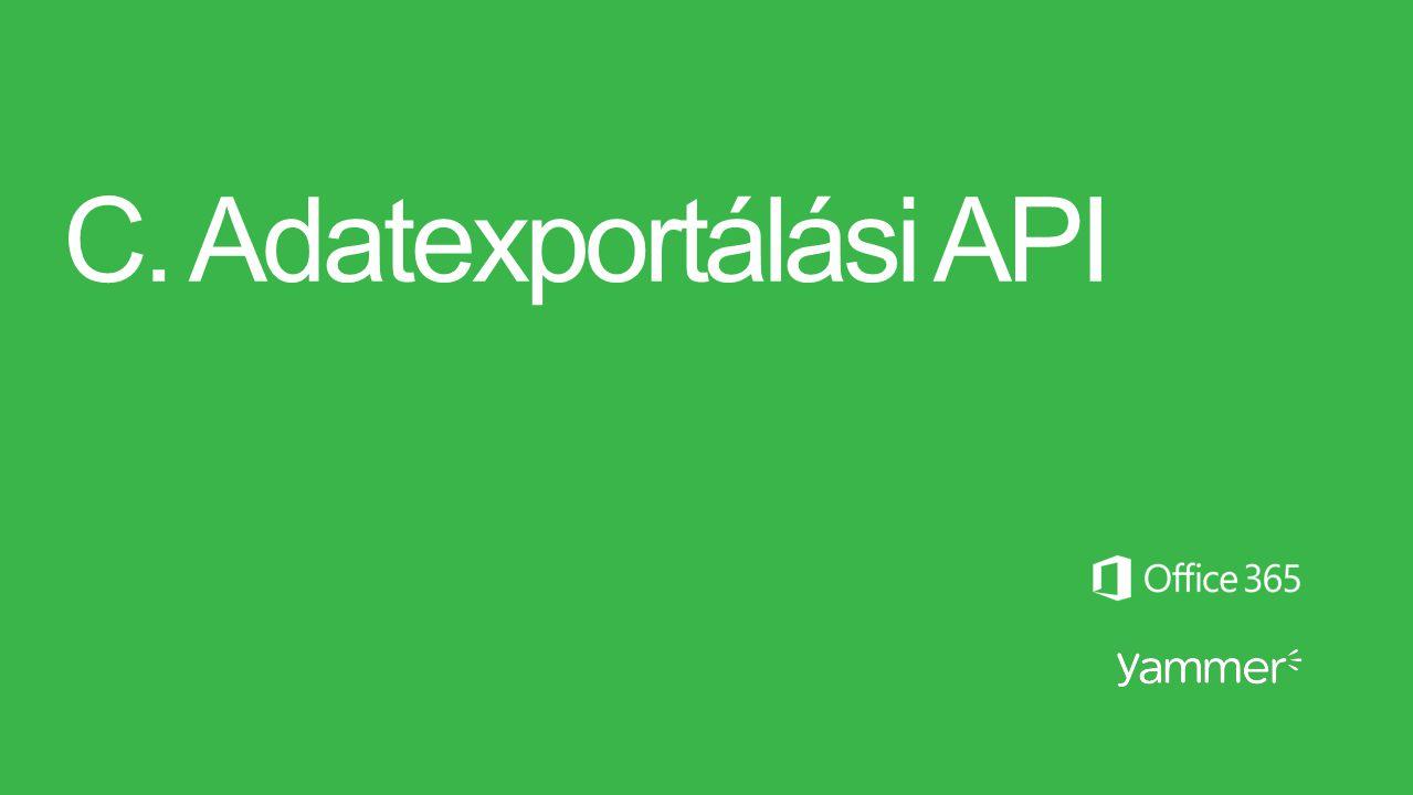 C. Adatexportálási API