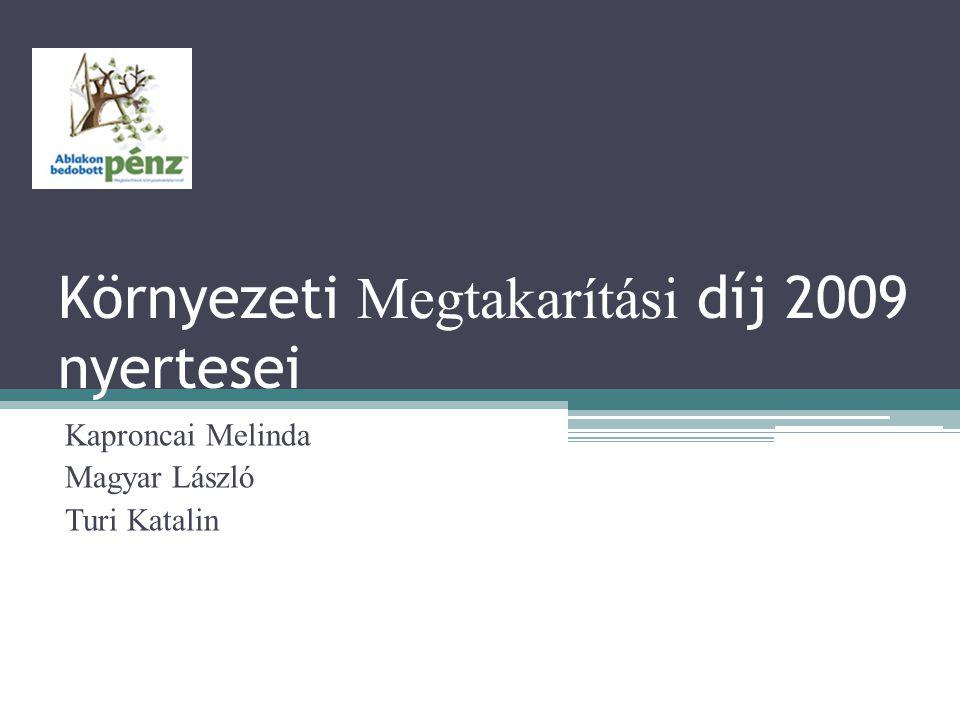 Környezeti Megtakarítási díj 2009 nyertesei