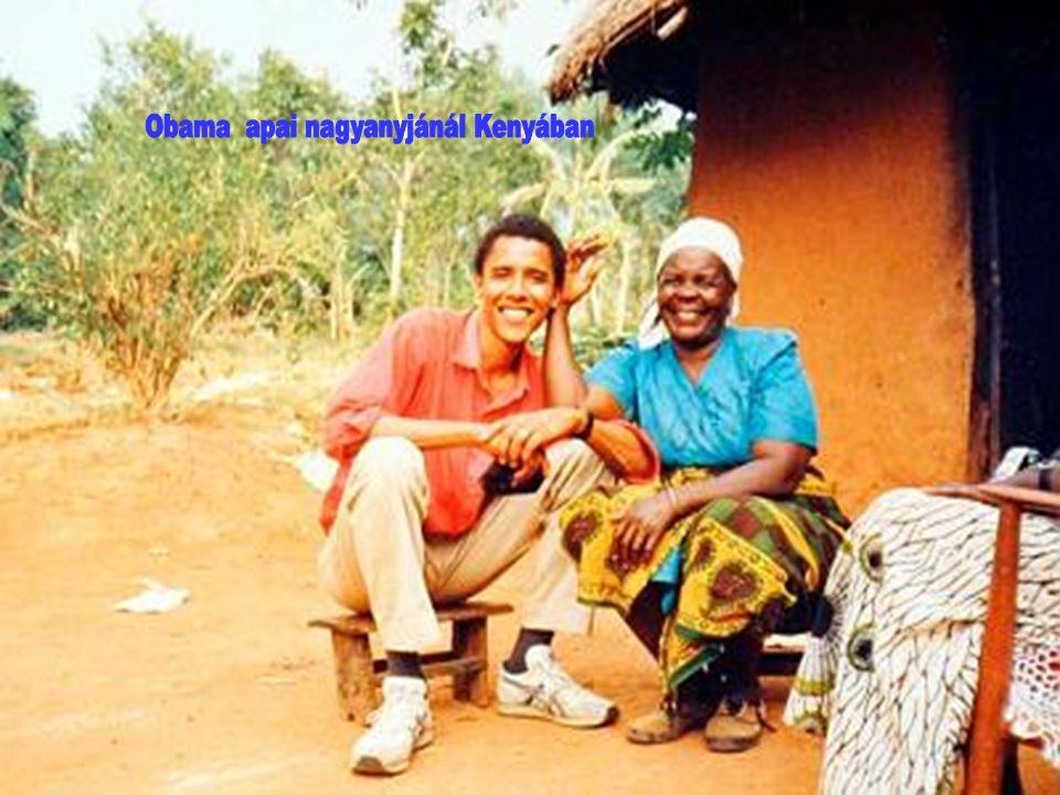 Obama apai nagyanyjánál Kenyában